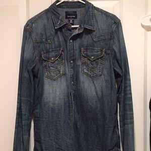 Men's true religion denim shirt